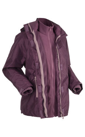 3v1 Funkčná bunda outdoor s kapucňou bonprix