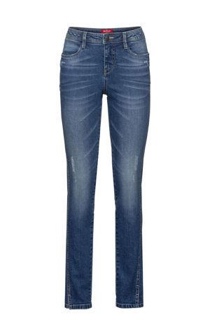 Autentické strečové džínsy, skrátené, SLIM bonprix