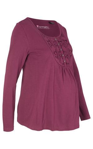Bavlnené materské tričko/na dojčenie bonprix