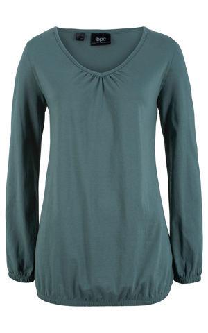 Bavlnené tričko, dlhý rukáv bonprix