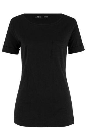 Bavlnené tričko s náprsným vreckom bonprix