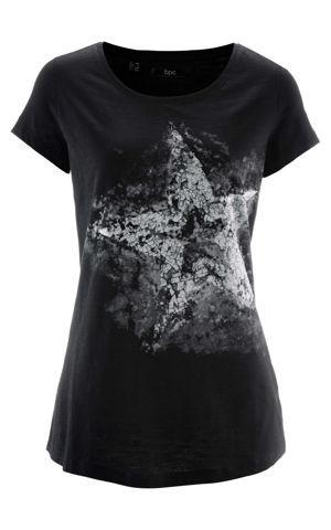 Bavlnené vypaľované tričko, krátky rukáv bonprix