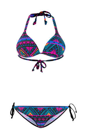 Bikiny, trianglové, push up (2-dielna sada) bonprix