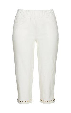 Capri nohavice so zlatými nitmi bonprix