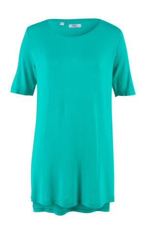 Dlhé tričko s rozparkom, polovičný rukáv bonprix
