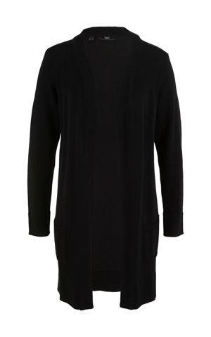 Dlhý pletený sveter, dlhý rukáv bonprix