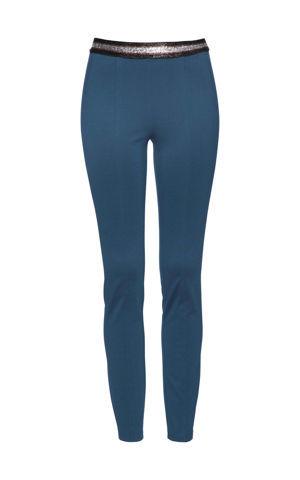 Džersejové nohavice s lesklým pásom bonprix