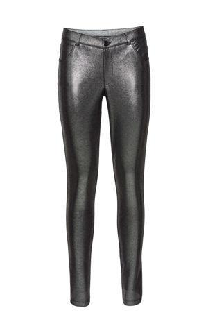 Džersejové nohavice v metalízovom vzhľade bonprix