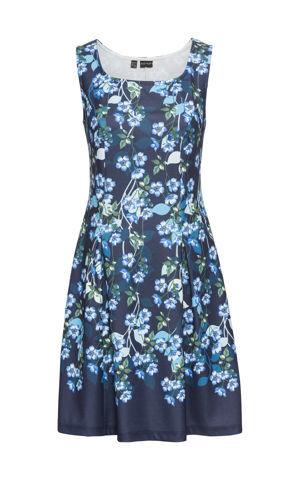 Džersejové šaty s kvetovou potlačou bonprix