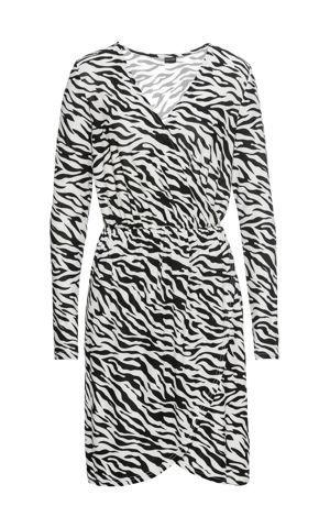 Džersejové šaty so zebrovaným vzorom bonprix