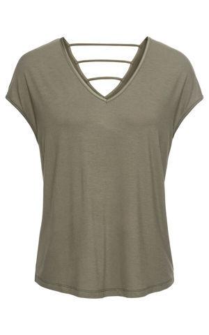 Džersejové tričko s ozdobným chrbtom bonprix