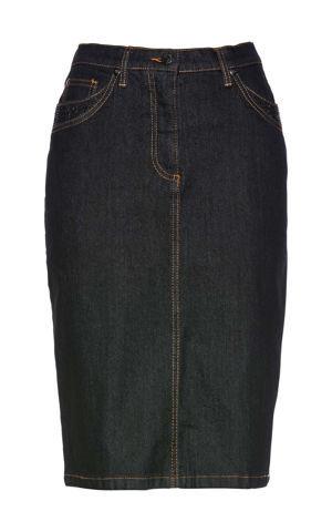 Džínsová sukňa s ligotavými kamienkami bonprix