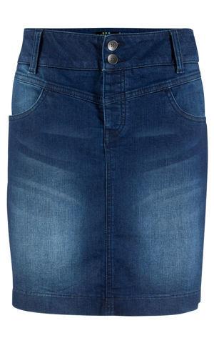 Džínsová sukňa z recyklovateľného polyesteru bonprix