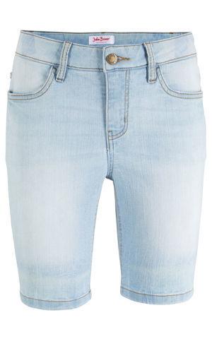 Džínsové šortky komfort streč bonprix