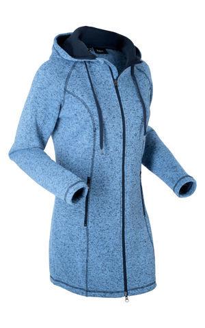 Flísový dlhý sveter, dlhý rukáv bonprix