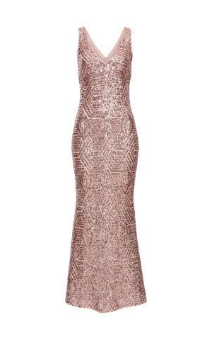 Flitrované šaty bonprix