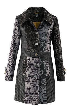 Kabát so žakárovým dizajnom bonprix