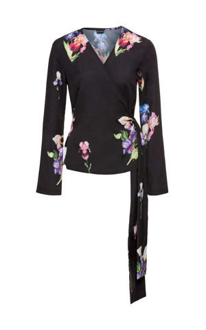 Kimonová blúzka so zvonovými rukávmi bonprix