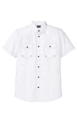 Košeľa, krátky rukáv, odrážavé detaily, Slim Fit bonprix