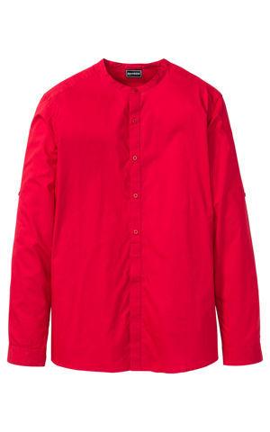 Košeľa s dlhým rukávom a so stojačikom Slim Fit bonprix