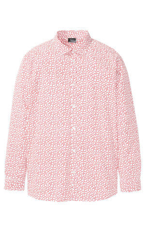 Košeľa s dlhým rukávom, grafická potlač bonprix