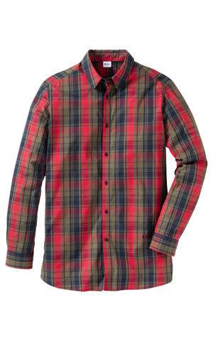 Košeľa s dlhým rukávom, so špeciálnym strihom na bruchu, Regular Fit bonprix