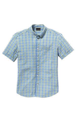 Košeľa s krátkym rukávom, krepový materiál, Regular Fit bonprix