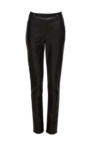Koženkové strečové nohavice bonprix