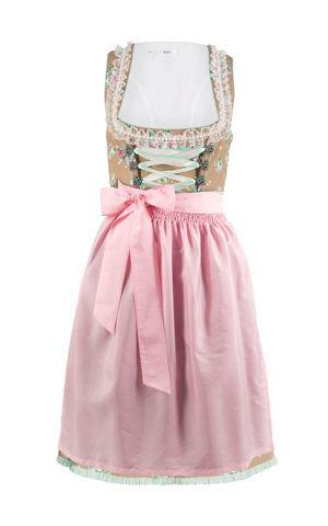 Krojové šaty s čipkovanou zásterou bonprix