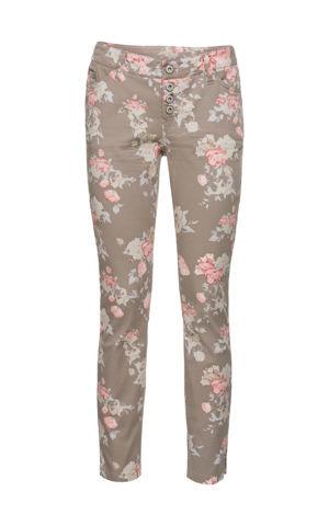 Kvetované nohavice Skinny bonprix