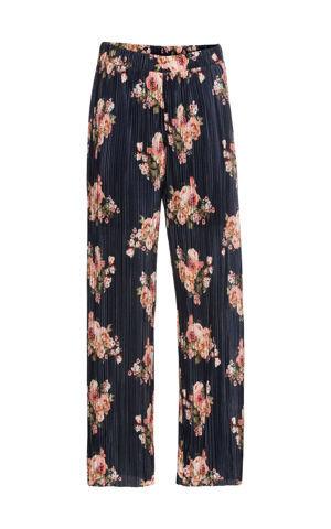 Kvetované plisované nohavice bonprix