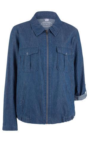 Ľahká džínsová blúzková bunda bonprix