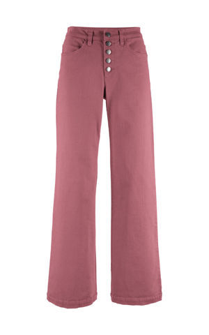 Ľahké strečové džínsy s vysokým pásom, rozšírené bonprix