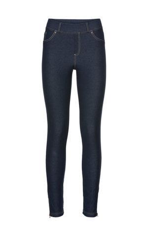 Legíny v džínsovom vzhľade so zipsami bonprix