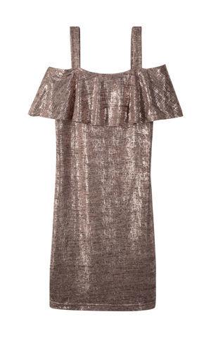 Lesklé šaty na jedno plece bonprix