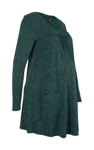 Materské úpletové šaty v melírovanom vzhľade bonprix