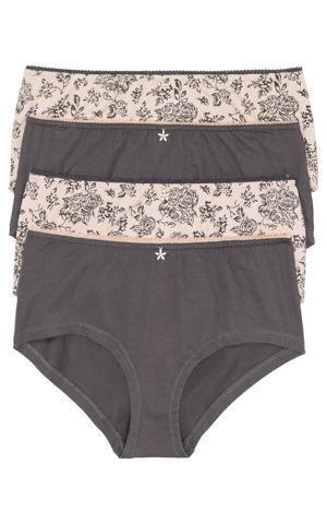 Maxi nohavičky s lesklými kamienkami (4 ks) bonprix