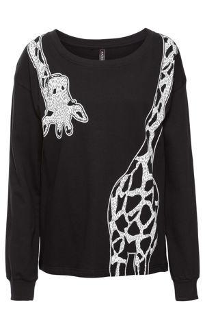 Mikina s potlačou žirafy bonprix