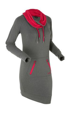 Mikinové šaty, dlhý rukáv bonprix