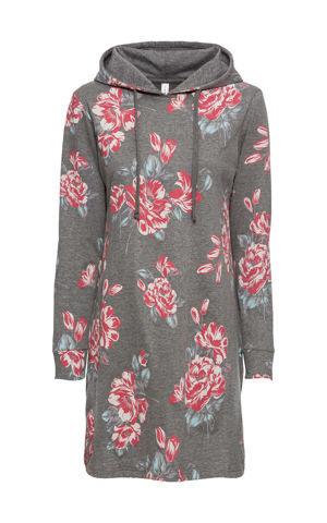 Mikinové šaty s kvetovanou potlačou bonprix
