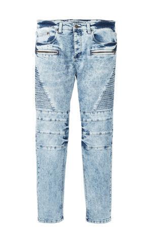Motorkárske strečové džínsy Slim Fit Straight bonprix