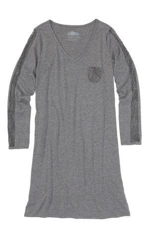 Nočná košeľa s čipkou bonprix
