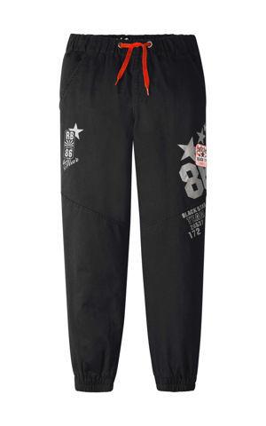 Nohavice chino s elastickým pásom a nášivkami bonprix