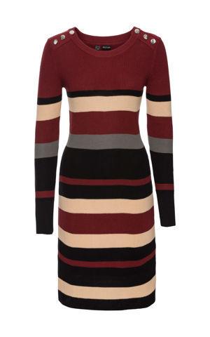 4f7917a9b712 Pásikované pletené šaty bonprix
