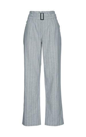 Plátené nohavice s opaskom na zaviazanie bonprix