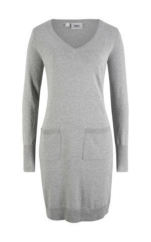 Pletené šaty recyklovaná bavlna bonprix