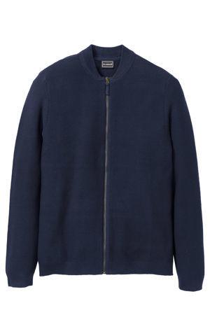Pletený sveter so zipsom Regular Fit bonprix