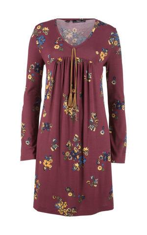 Potlačené úpletové šaty s dlhými rukávmi bonprix