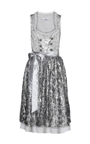 Premium krojové šaty s flitrovanou zásterou bonprix