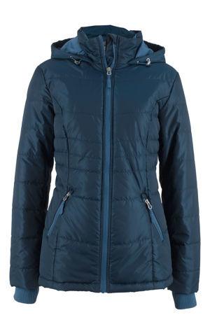 Prešívaná bunda s kontrastnými zipsmi bonprix